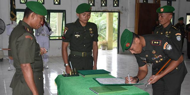 Danrem Teuku Umar Sertijab Dandim Aceh Selatan
