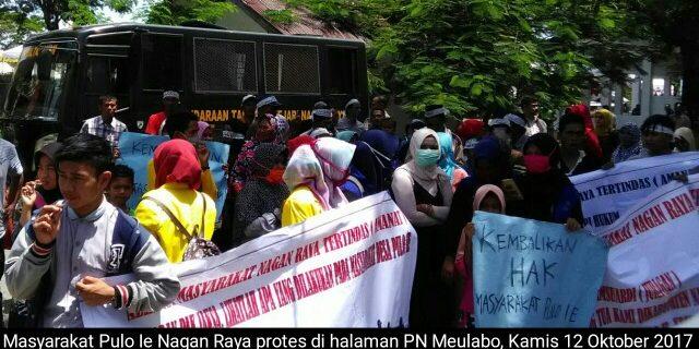 Masyarakat Pulo Ie Protes PN Meulaboh