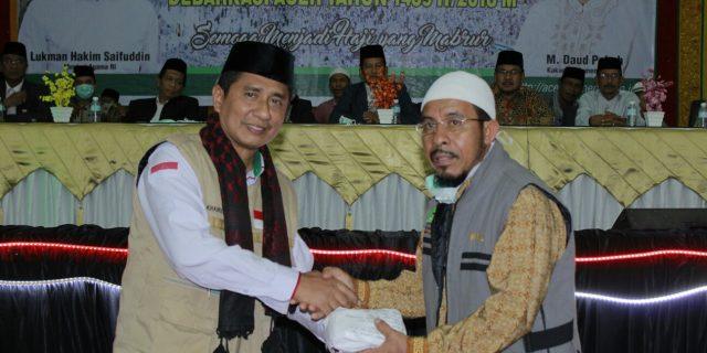 Jamaah Haji Aceh Beri Sumbangan Korban Gempa Lombok