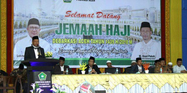 391 Jamaah Haji Aceh Kembali ke Tanah Air