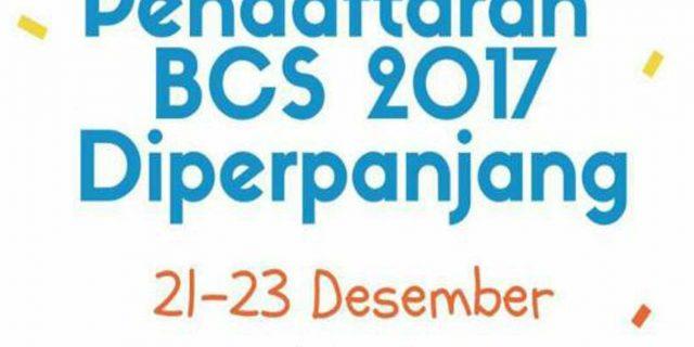 Pendaftaran BCS Diperpanjang