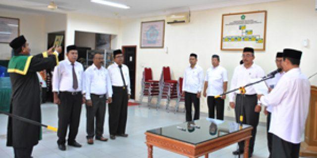 Kankemenag Aceh Barat Lantik Tiga Pejabat Baru
