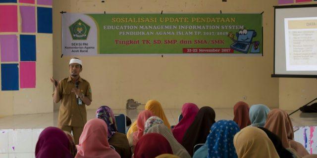 Kemenag Aceh Barat Sosialisasi Update EMIS Online