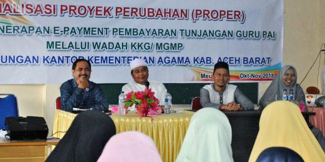 Kemenag Aceh Barat Sosialisasi Proper Efesiensi E-Payment