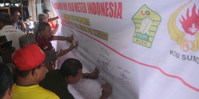 KONI Seluruh Indonesia Deklarasi Nol Kilometer