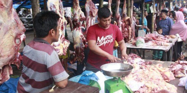 Harga Daging 'Meugang' di Meulaboh Variatif