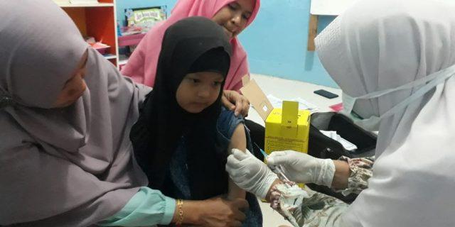 Siswa RUMAN Aceh Divaksin Rubella