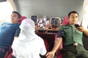 TNI AD Teuku Umar Kumpulkan 50 Kantong Darah