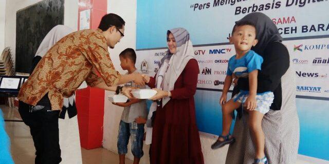 Peringati HPN, Wartawan Aceh Barat Santuni Anak Yatim