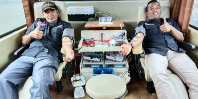 Peringati HUT RI 74, ACT-MRI Syamtalira Aron Gelar Donor Darah