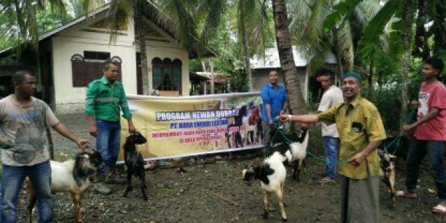 BEL Serahkan Hewan Kurban untuk Masyarakat Nagan Raya