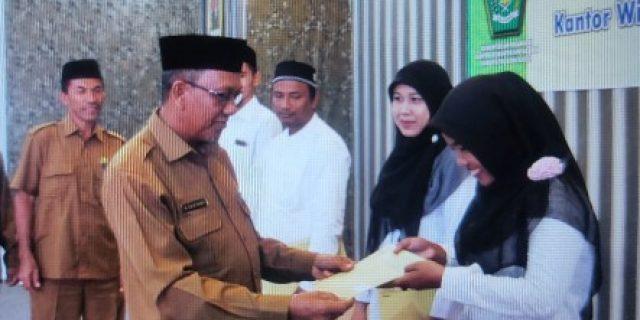 111 CPNS Kemenag Aceh Terima SK