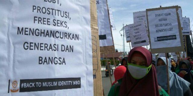 Tolak LGBT, Mahasiswa Aceh Barat Turun ke Jalan