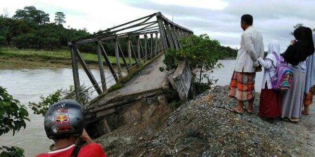 Butuh Rp 60 M untuk Perbaiki Jembatan Ulee Raket