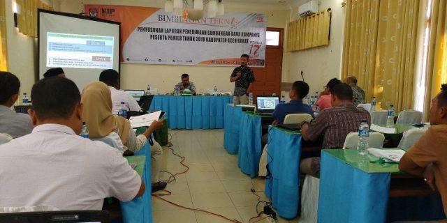 KIP Aceh Barat Beri Bimtek LPSDK Partai Politik