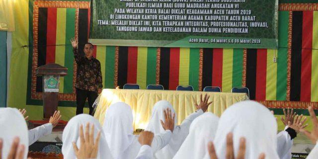 Guru Madrasah di Aceh Barat Dilatih Publikasi Ilmiah