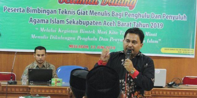 Penyuluh Agama Islam di Aceh Barat Ikut Bimtek Giat Menulis