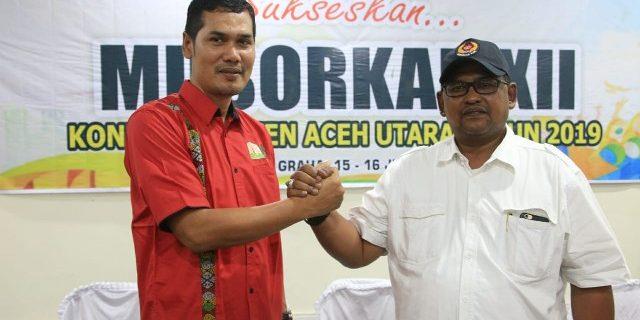 Sidom Peng Ketua Umum KONI Aceh Utara
