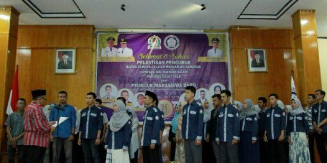 Bupati Aceh Barat Lantik Pengurus IPMS