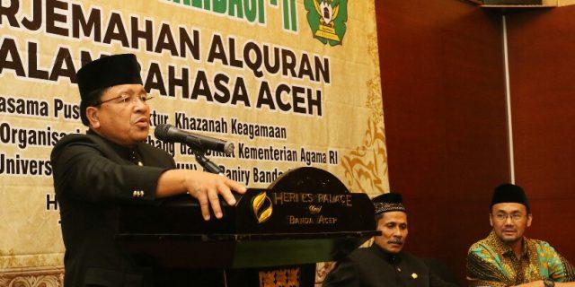 Alquran Terjemahan Bahasa Aceh Segera Dicetak