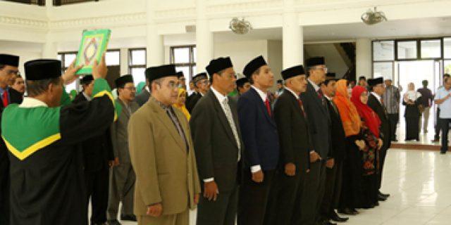 Rektor UIN Ar-Raniry Lantik Pimpinan Baru
