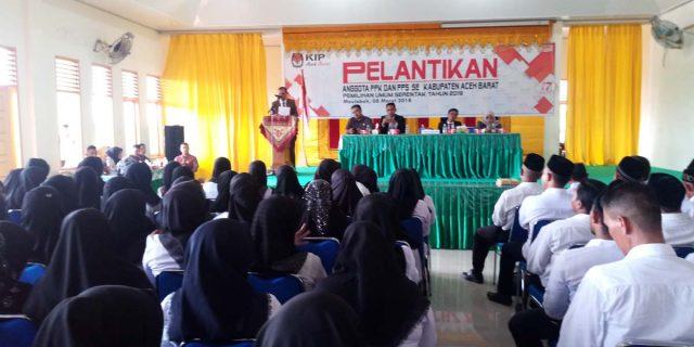 KIP Aceh Barat Lantik PPK dan PPS