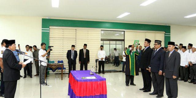 Rektor UIN Ar-Raniry Lantik Tiga Pejabat Baru