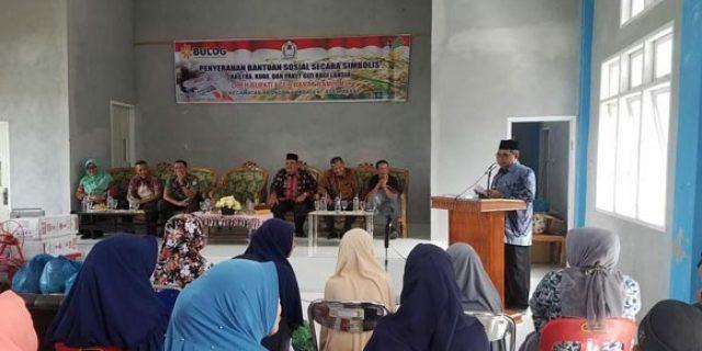 Aceh Barat Salurkan Bansos Rastra