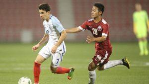Andri Syahputra tampak mengenakan nomor punggung 20 bersama Timnas Qatar Junior