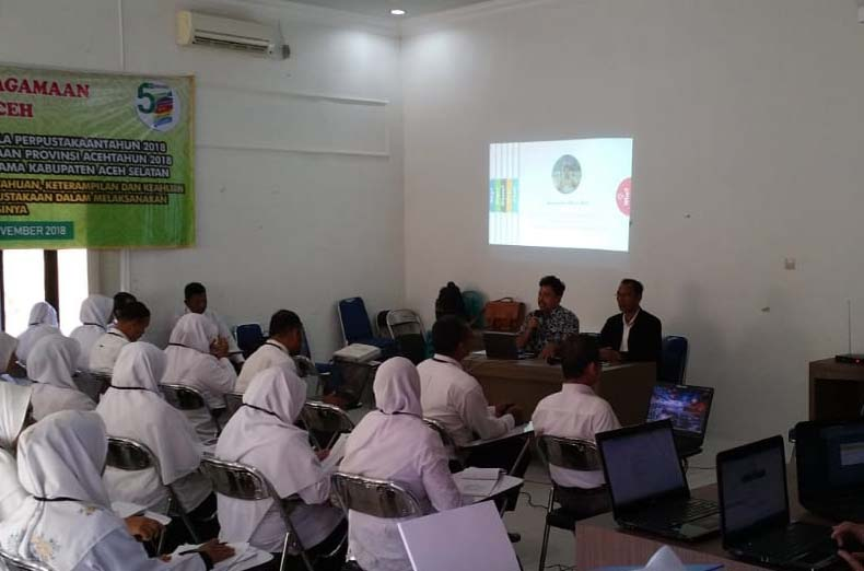 Guru Madrasah Se Aceh Selatan Dibekali Teknis Pengelolaan Perpustakaan