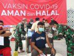 Atlet dan Pelatih Pelatda KONI Aceh divaksin