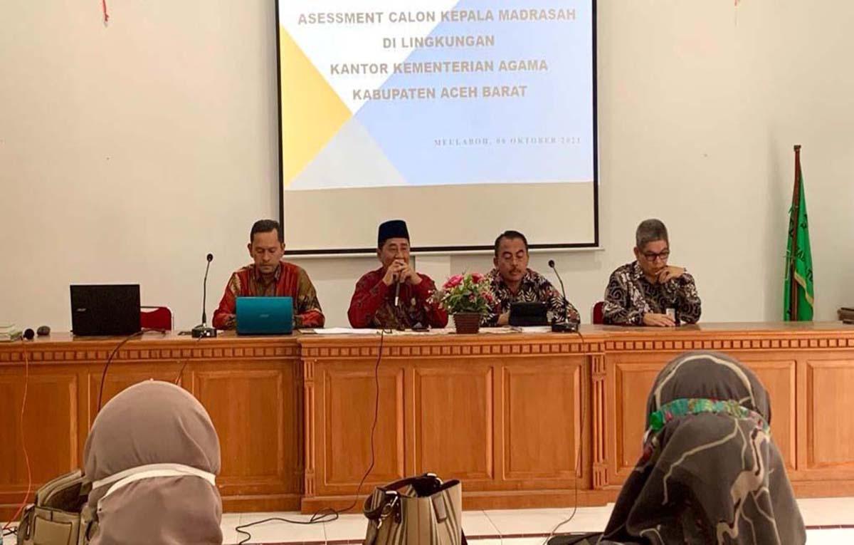Aceh Barat Uji Kualitas Calon Kepala Madrasah